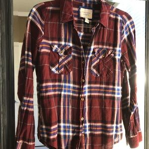EUC Forever 21 Red & Blue Flannel